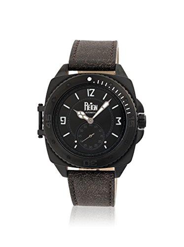 Reign Automatic Men's Churchill Dark Brown/Black Leather Watch