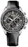 Boss - 1513085 - Montre Homme - Quartz Chronographe - Bracelet Cuir Noir