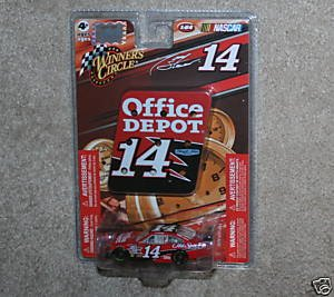 Tony Stewart #14 Office Depot Black Roof Old Spice 1/64 Scale Car With Mini Replica Diecut Magnet Pit Board Sign Winners Circle 2009