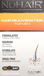 NuHair Hair Regrowth Tablets, for Men, 60-Count Box
