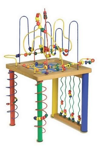 Young Childrens Wooden Activity Play Table