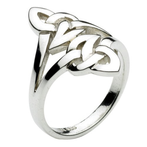 Kit Heath Large Sterling Silver Celtic Knot Ring (size: 6)
