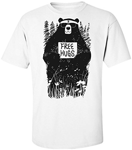 Cool Hipster Bear Offers Free Hugs Men's T-Shirt Large