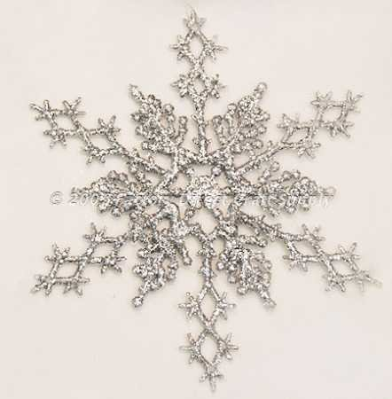 Silver Glitter Snowflake Winter Wedding Favors or Ornaments, 36 Pieces