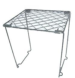 Stackable Wire Locker Shelf 12 Inch Black