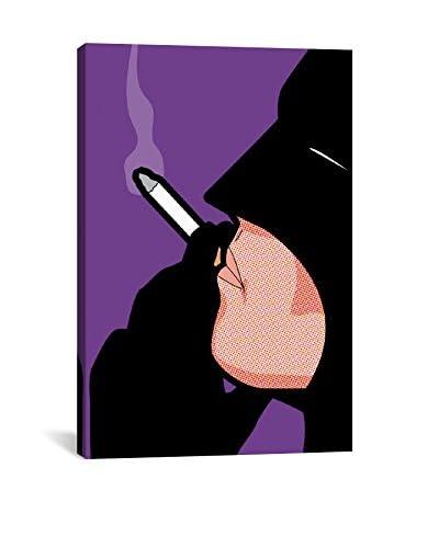 Bat-Smoke Gallery-Wrapped Canvas Print