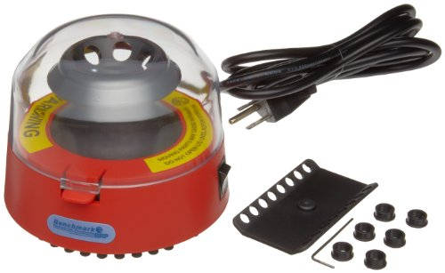 Benchmark Scientific BSC1006-R Red Mini Centrifuge With 2 Rotors and 6 Adapters (Centrifuge Mini compare prices)