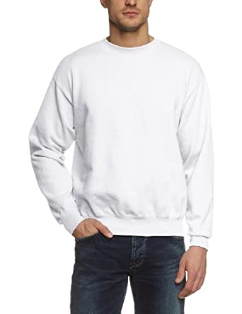 Fruit of the Loom - 12200B - Sweat-shirt - homme - Blanc (30 Weiss) - Taille S (DE: 44/46)