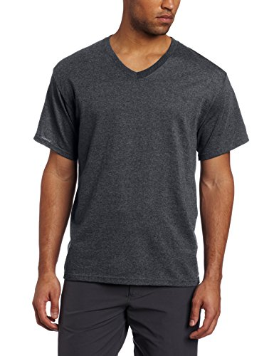 Russell Athletic Men's V-Neck Tee, Black Heather, XX-Large (Big And Tall V Neck T Shirts compare prices)