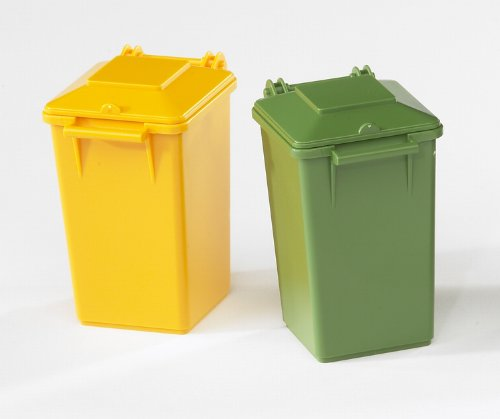 Bruder Garbage Can Set, 3 Small/1 Large