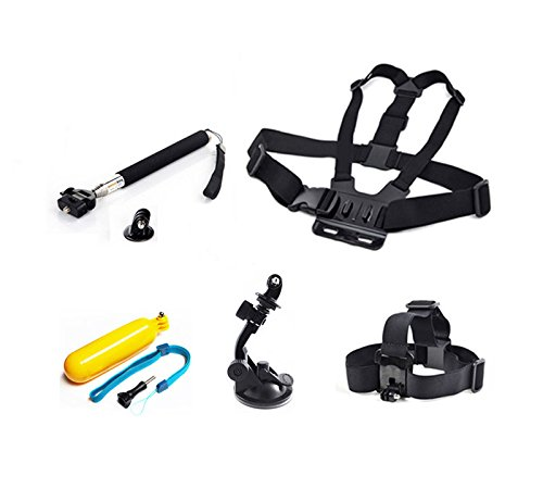 Head Chest Mount Suction Monopod Accessories Designed For Gopro Hero 2 3 4 5 Camera Adjustable And Compact Design Superior Plastic And Nylon Brand New (Filming Accesories compare prices)