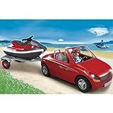 Slick Playmobil Car with Jet Ski (5133) - Cleva Edition H8' Bundle