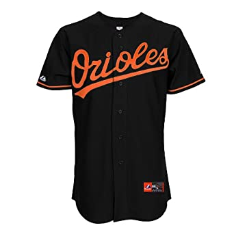 MLB Baltimore Orioles Matt Wieters Black Alternate Short Sleeve 6 Button Synthetic... by Majestic