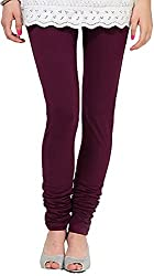 Tulip Collections Women's Purple Cotton Slim Leggings (Tcinli0000077_M, Purple, M)