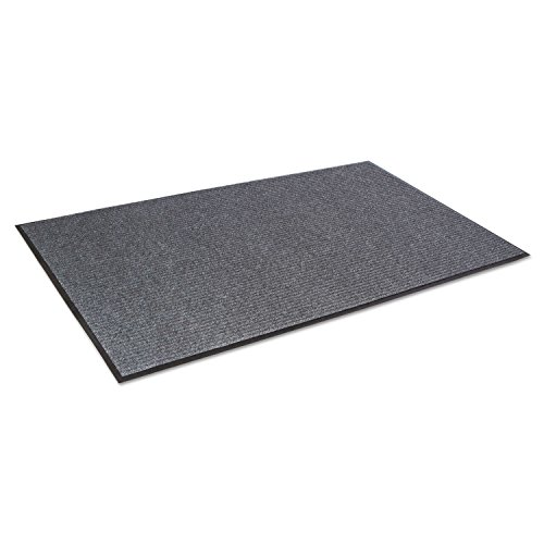 Crown Needle Rib Wipe and Scrape Mat, Polypropylene,Gray (NR0035GY)