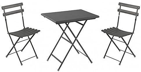 Set di mobili da balcone 3pezzi, Emu, rettangolare, antico ferro, Piccolo