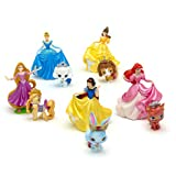Disney Princesses and Palace Pets Deluxe Figurine Playset - Rapunzel, Snow White, Belle, Cinderella and Ariel with pets