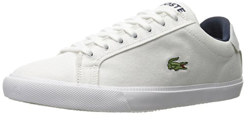 Lacoste Men's Grad Vulc Fb Fashion Sneaker Fashion Sneaker, White/navy, 8 M US