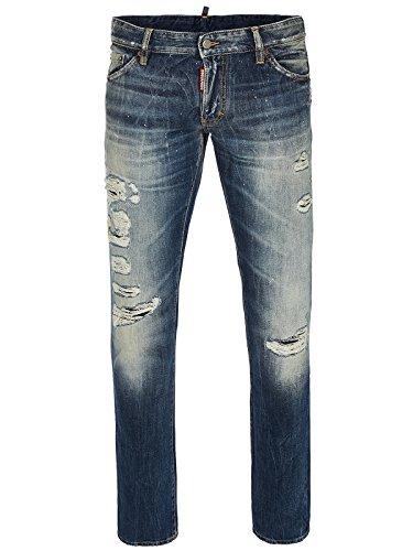 DSQUARED2 Jeans | Slim Jean SIZE 50,52,54 classic blue destroyed (54) thumbnail