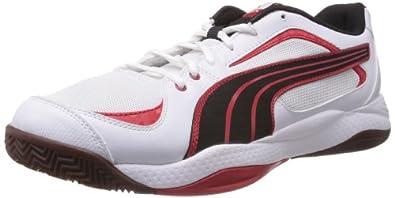 Puma Ballesta 102824 Unisex-Erwachsene Hallenschuhe, Weiß (white-black-high risk red 04), EU 37.5 (UK 4.5) (US 5.5)
