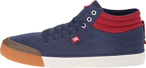 DC Men's Evan Smith HI Skate Shoe, Navy/Red, 11 M US