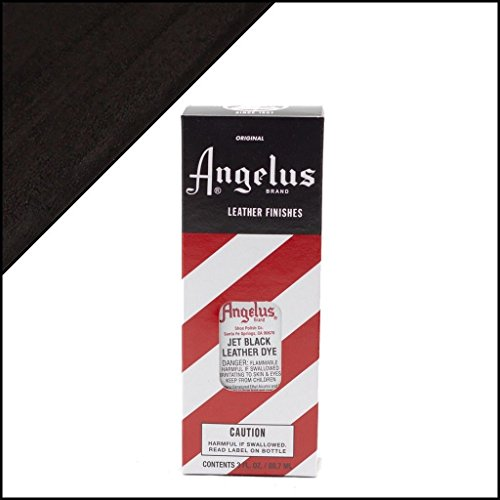 Angelus Brand Leather Dye W/applicator - 3 Oz ''Jet Black'' (Leather Dye Applicator compare prices)