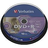 Verbatim DVD+R Advanced AZO+ DVD-Rohlinge 16x 4,7 GB LightScribe Surface Version 1.2 10er Spindel