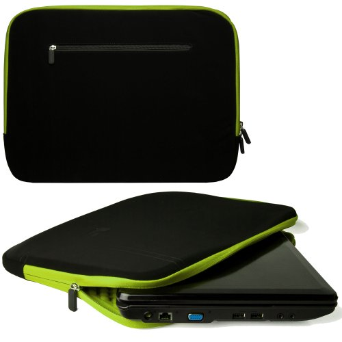 15 Inch Laptop Case Toxic Green Neoprene Bubble Padded Zippered Sleeve for ASUS U53Jc 15 Inch Laptops