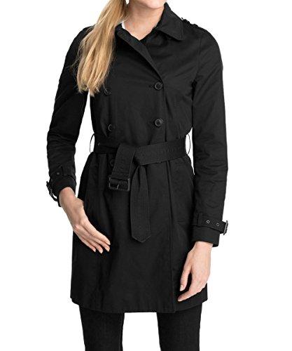 esprit damen trenchcoat mantel 015ee1g004 gr 36 schwarz. Black Bedroom Furniture Sets. Home Design Ideas
