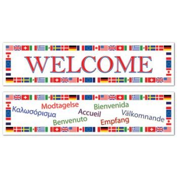 International Welcome All-Weather Banner Set