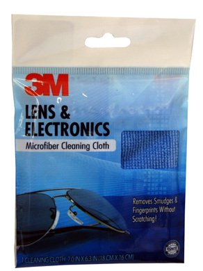 3M Microfiber Lens Cleaning Cloth, Color May Vary, 1 Count