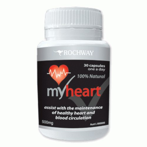 My-heart (Capsules) / Assist with the Maintenance of a Healthy Heart and Blood Circulation (GMO-free, vegan, Probiotic)