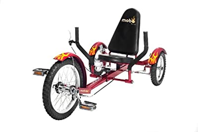 """MOBO Cruiser """"Triton"""" recumbent bicycle Tricycle - Red"""