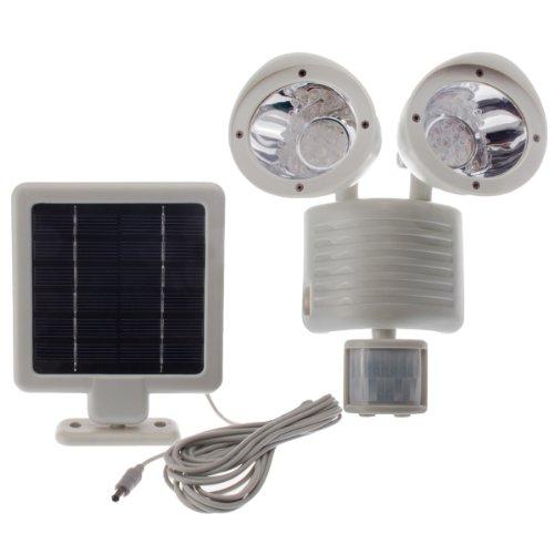 22 Led Solar Powered Motion Sensor Security Flood Spot Light, Grey