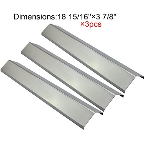 The Red BBQ 95051(3-pack) Stainless Steel Heat Plate/shield Replacement for Select Chargriller Gas Grill Models (Char Griller 8080 Parts compare prices)