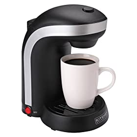 Kitchen Selectives Single Serve Drip Coffee Maker - Black (1 Cup): Kitchen & Dining