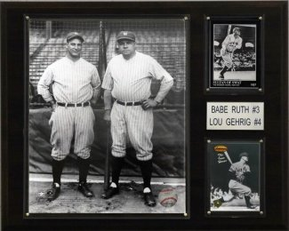 "New York Yankees Babe Ruth and Lou Gehrig 12""x15"" Plaque at Amazon.com"
