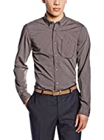 Tom Tailor Camisa Hombre Hemd floyd solid optic/512 (Burdeos)