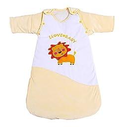 Nanxson(TM) Baby Sleeping Bag Detachable for Autumn Winter SDET0001 (yellow)