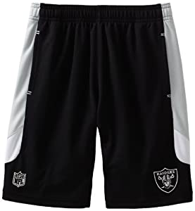 NFL Oakland Raiders 8-20 Boys Kick Off Mesh Short (Black, Small)