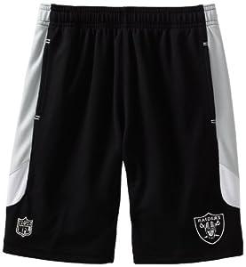 NFL Oakland Raiders 8-20 Boys Kick Off Mesh Short (Black, Small)