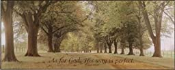 As for God, His way is perfect, Lithographic Art - Frameless Textured