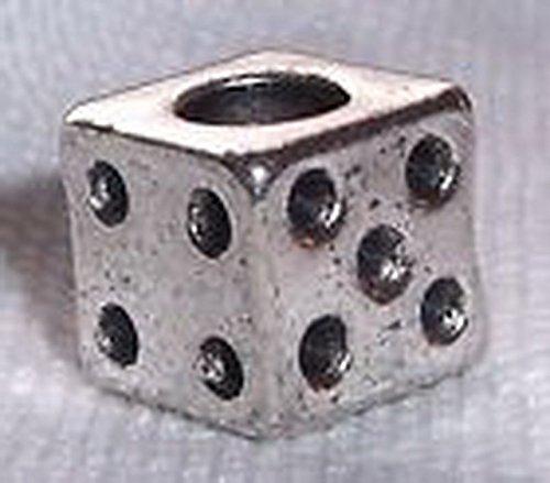 Blazers Jewelry 1985 Dice Las Vegas Casino Craps Lucky Game Bead fits Silver European Charm Bracelets (Lucky Gem Casino compare prices)