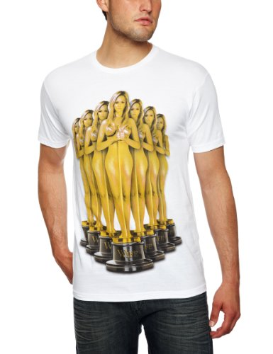 T.I.T.S Trophy Wife Printed Men's T-Shirt White Small