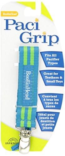 Booginhead PaciGrip - Blue Green Stripe