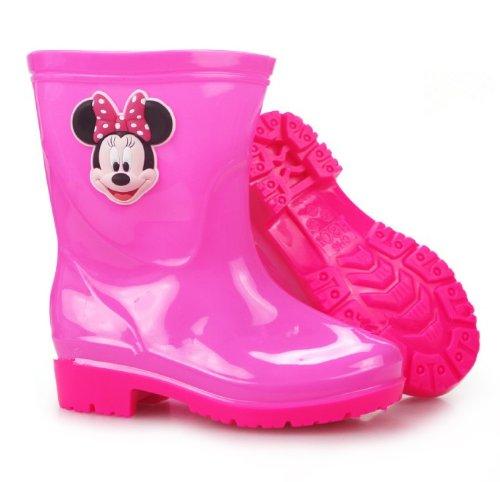 レインブーツ  レインシューズ  キッズ&ベビー&ジュニア(子供用) kids 長靴 ラバーブーツ♪ 男女兼用 長靴 長ぐつ   Disney/ディズニー ミニー ローズレッド 1セット入れ  並行輸入品