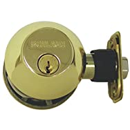 Double-Cylinder Maximum Security Deadbolt-PB 2CYL DEADBOLT BX