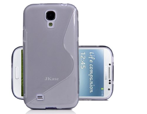 Jkase Slim-Fit Streamline Ultra Durable Tpu Case For Samsung Galaxy S4 Siv I9500 - Retail Packaging - Grey