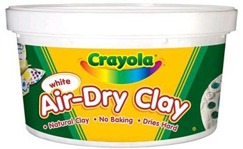 Crayola Air Dry Clay 2.5 Lbs White -- Case of 6
