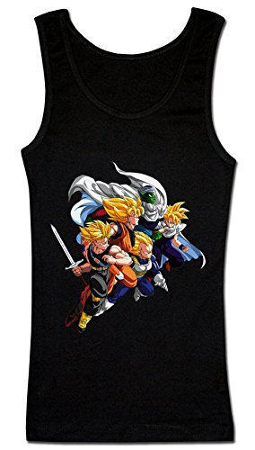 Dragon Ball Z Team Ready To Fight Women's Tank Top Shirt Large